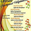Chorale du champsaur valgaudemar à l'église de st jean le 27 août 2015 à 21 h
