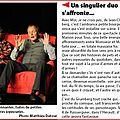 Un singulier duo Extrait article L Alsace 14 10 12