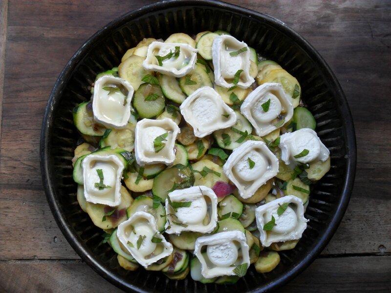 tatin de courgettes au fromage de chêvre- kika cilantro