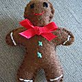 Broche feutrine Gingerbread