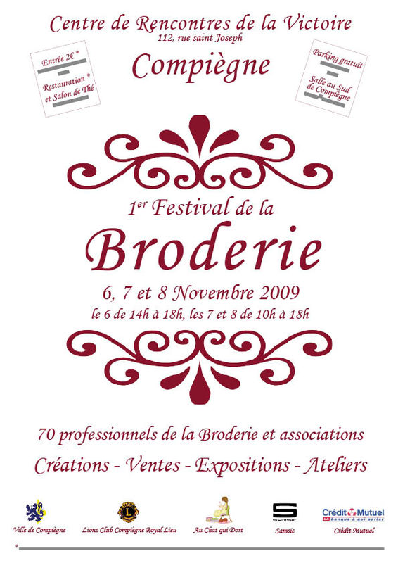 affiche festival broderie