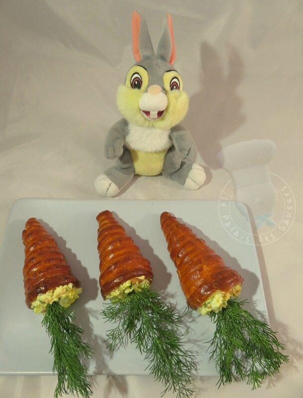 Carottes oeuf momisa au saumon et aneth
