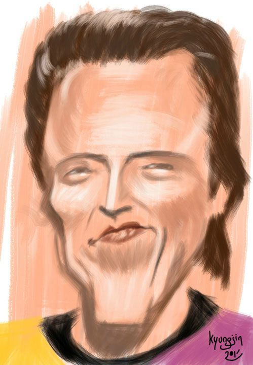 Christopher Walken caricature