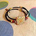 bracelet geom Framboise 2