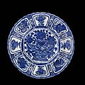A chinese `kraak porselein ' blue and white `dragon ' dish, ming dynasty, wanli period, circa 1605-1615