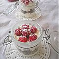 Triffle de framboises