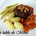 Paupiettes de boeuf et sa sauce au vin rouge ( basse temprérature )