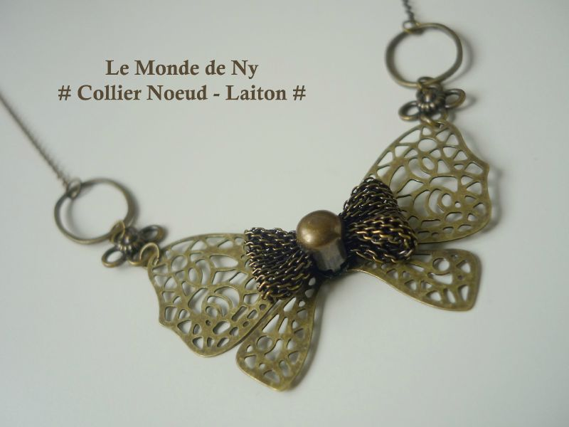 Collier Noeud - Laiton