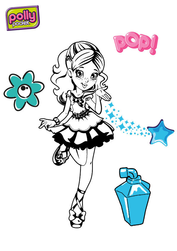 Grande frimousse est une polly pocket casa dolce casa - Coloriage polly pocket ...
