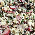 Salade croquante aux radis, fenouil et feta