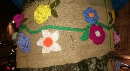 tricot fleurs Nancy