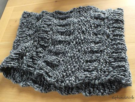 tuto snood tricot, modele snood