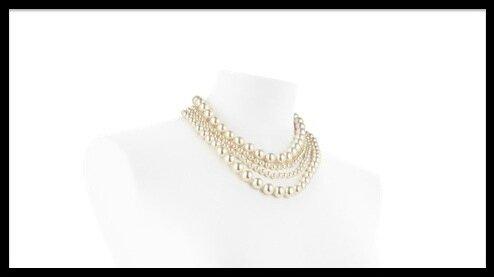 chanel perles de verre collier