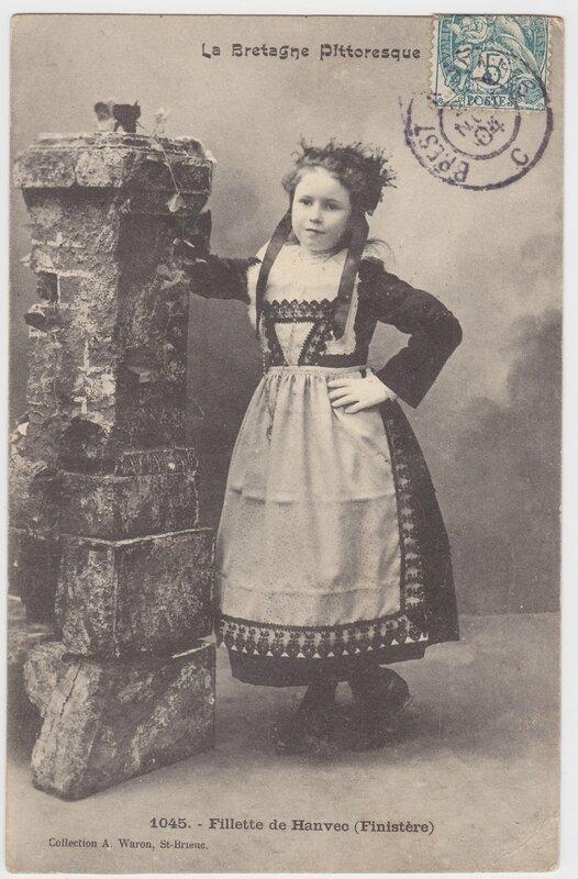Fillette de Hanvec _ Finistere _ 1904
