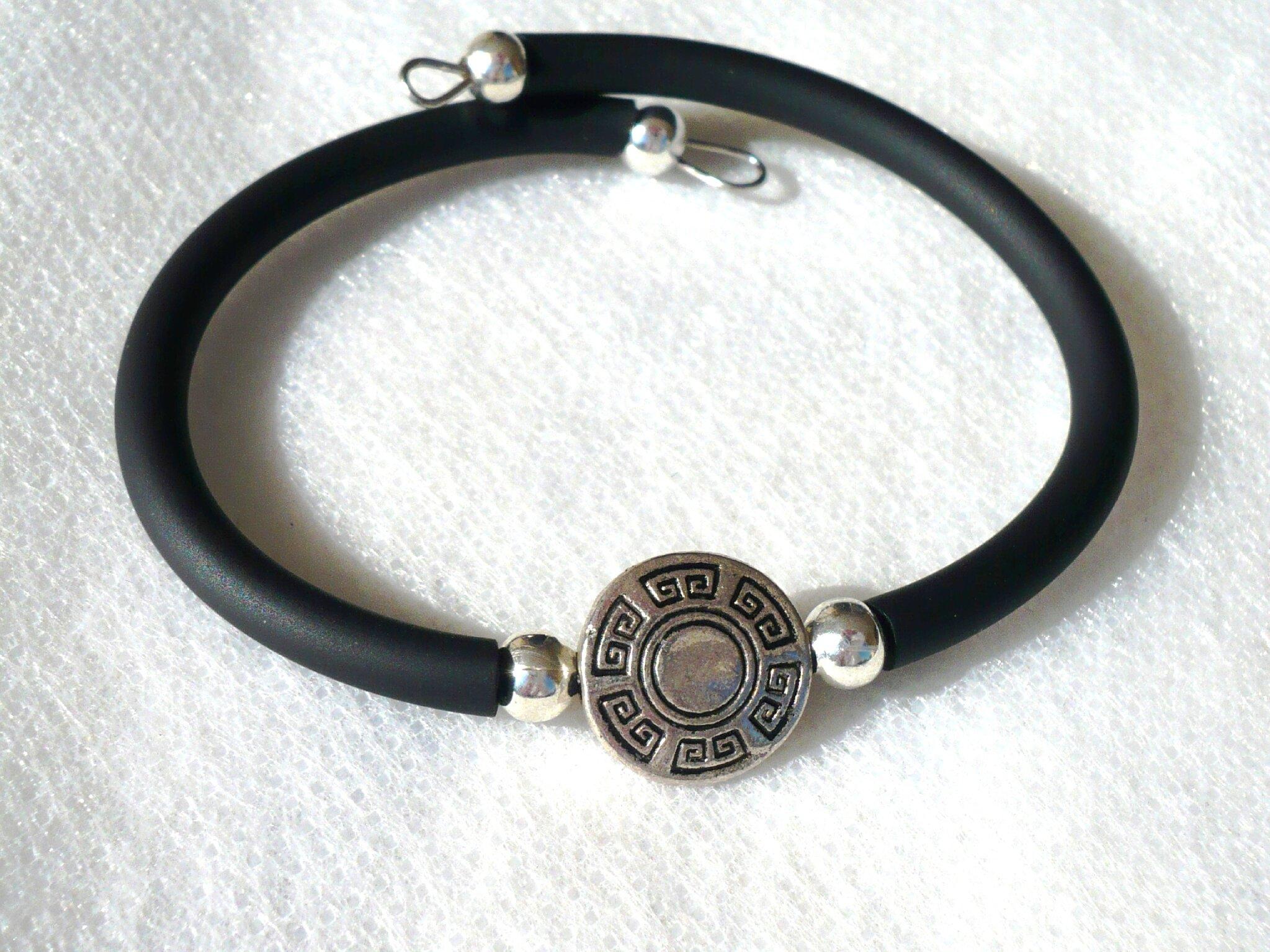 bracelet grec noir