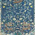 A silk fabric. China, Qing dynasty, 19th century