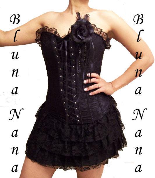 Robe bustier noire gothique
