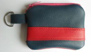 Porte monnaie rouge et bleu
