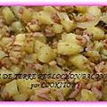 Pommes de terre/reblochon/bacon/canard