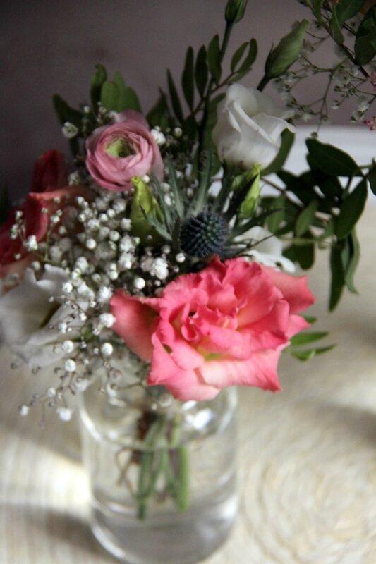 Décoration mariage - Petit centre de table champêtre - création La Saladelle - Atelier floral Perpignan et Pyrénées-Orientales 05
