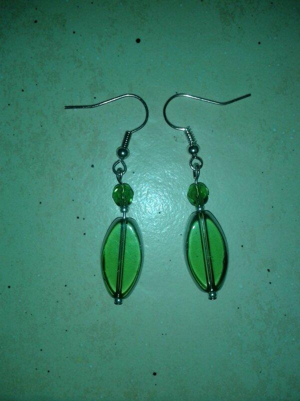 simple vert et verre et cristal