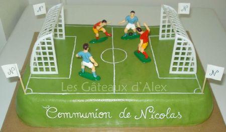 Gâteau terrain de foot #3