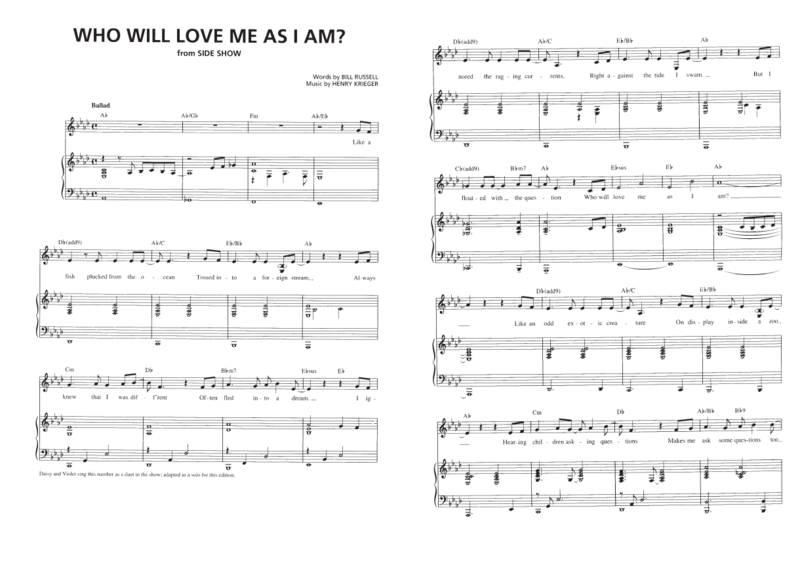 Who will love me as I am 01