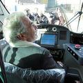 Jean-Claude Antonini aux commandes du tramway