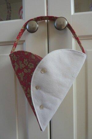 Coeur porte-fleurs drap & Moda - face 1