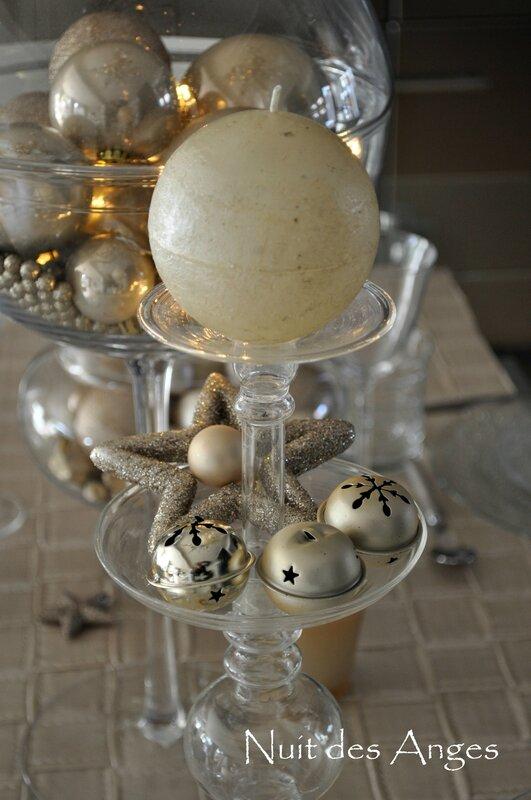 Nuit des anges décoratrice décoration de table dorée 013