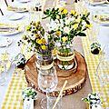 décoration-table-mariage-jaune