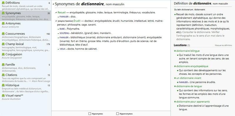 encyclopedie vivante synonyme