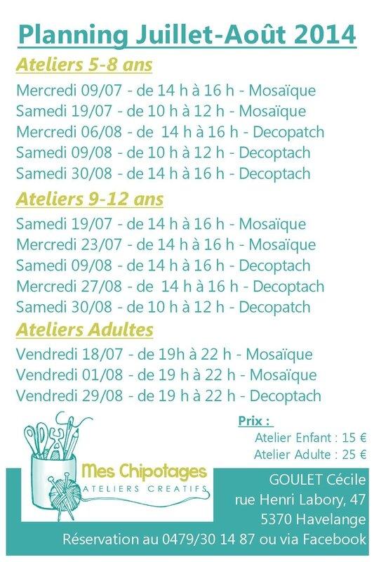 planning juillet-août 2014