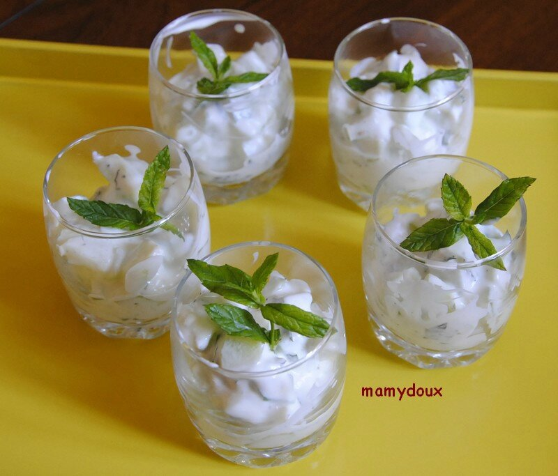 verrine concombre menthe