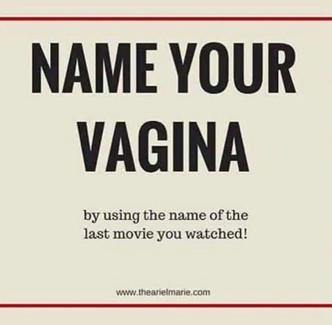 name your vagina