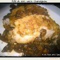 Rôti de porc au champignon