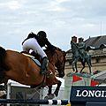 Paris eiffel jumping - prix du qatar warm-up & début d'épreuve