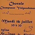 Concert à l'église de st jean le 16 juillet 2013 à 20h 30