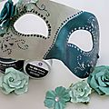 An altered venetian mask, the perfect acessory for a photo booth