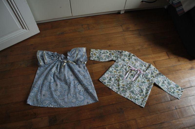 Les chemises de mes filles, 25 € chacune.