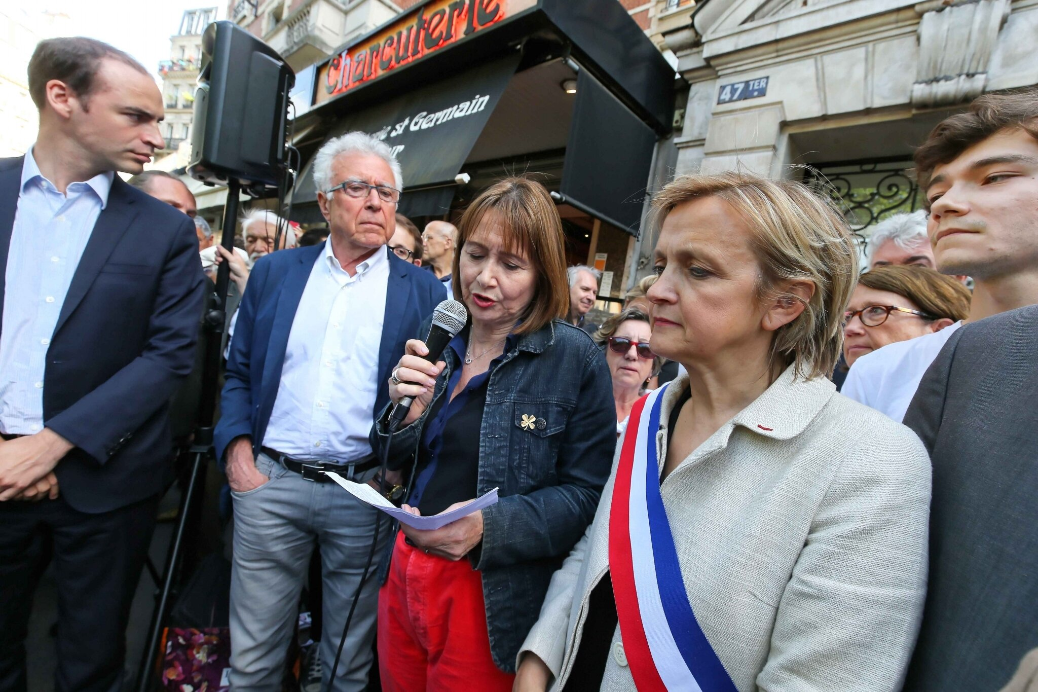 Florence Berthout (à droite), Dominique Stoppa-Lyonnet (au centre). © Michel Stoupak.