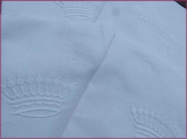 serviettes de table brodées couronne de comte blanc