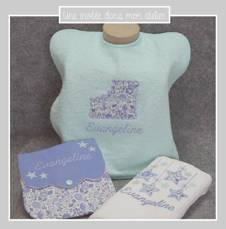 coffret-cadeau de naissance-Liberty-Danjo bleu-une invitée dans mon atelier