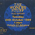 The wonder stuff - mardi 24 octobre 1989 - brixton academy (london)