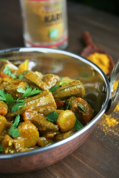 Curry de gombos ou Okra curry 2
