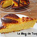 Gâteau amandes et pulpe d'orange