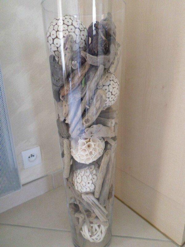 Vase deco les creations d 39 isa for Quoi faire avec du bois flotte