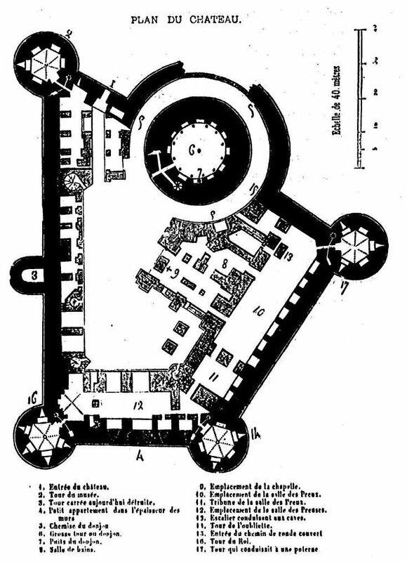 Coucy plan du chateau