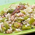 Risotto d'hiver aux poireaux, crevettes grises & brillat-savarin