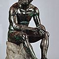 Boxer at rest-masterpiece of ancient bronze sculpture-on special loan to metropolitan museum